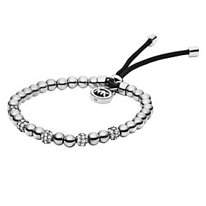 Michael Kors stainless steel stone set stretch bead bracelet - Product number 1352598