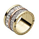 Michael Kors gold-plated stone set ring size O - Product number 1352636
