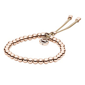 Michael Kors rose gold-plated stretch bead bracelet - Product number 1352644