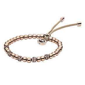 Michael Kors rose gold-plated stone set bead bracelet - Product number 1352660