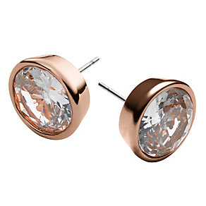 Michael Kors rose gold-plated crystal stud earrings - Product number 1352679