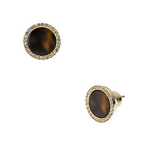 Michael Kors tortoiseshell effect pave crystal stud earrings - Product number 1353020