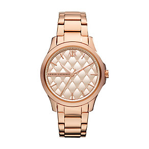 Armani Exchange Ladies' Rose Gold-Plated Bracelet Watch - Product number 1353136