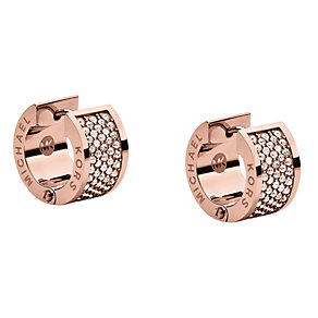 Michael Kors rose gold-plated pave huggie earrings - Product number 1353160