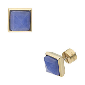 Michael Kors gold-plated blue pyramid stud earrings - Product number 1353233