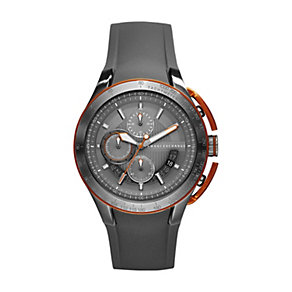 Armani Exchange Men's Steel Grey Silicone Strap Watch - Product number 1353381