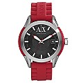 Armani Exchange Men's Stainless Steel Red Strap Watch - Product number 1353411