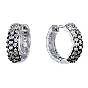 Shades of Wonder 1 carat white & brown diamond earrings - Product number 1353691