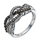 Shades of Wonder silver 45 point white & brown diamond ring - Product number 1353853