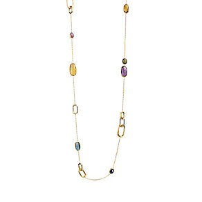 Marco Bicego Murano 18ct yellow gold multi stone necklace - Product number 1354272