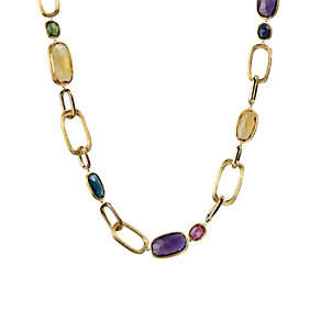 Marco Bicego Murano 18ct gold multi stone link necklace - Product number 1354299