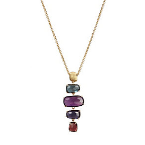 Marco Bicego Murano 18ct gold multi stone link necklace - Product number 1354302