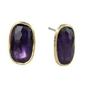 Marco Bicego Murano 18ct yellow gold amethyst stud earrings - Product number 1354337