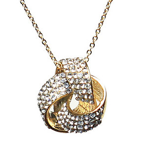 Mikey Yellow Crystal Round Bow Necklace - Product number 1354663