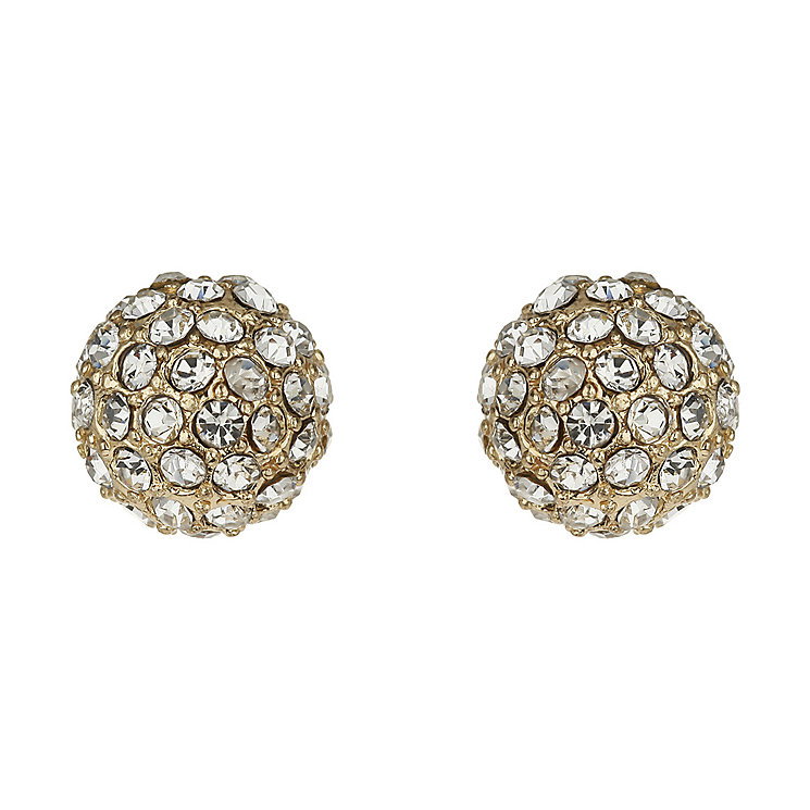 Mikey Yellow Crystal Ball Stud Earrings - Product number 1354736