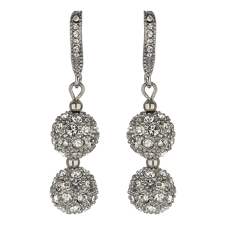 Mikey White Crystal Heavy Earrings - Product number 1354779