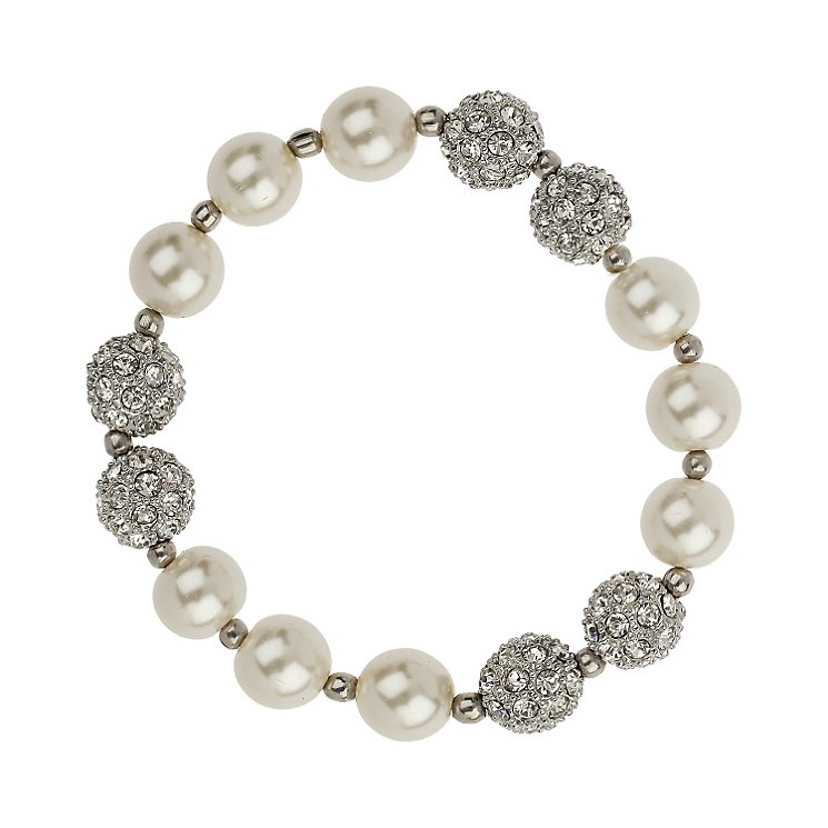 Mikey Imitation Pearl and Crystal Ball Bracelet - Product number 1354825