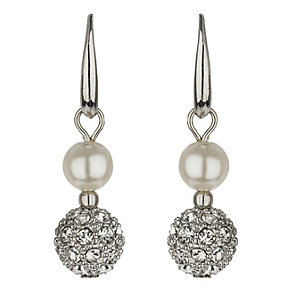 Mikey Imitation Pearl & Crystal Ball Earrings - Product number 1354833