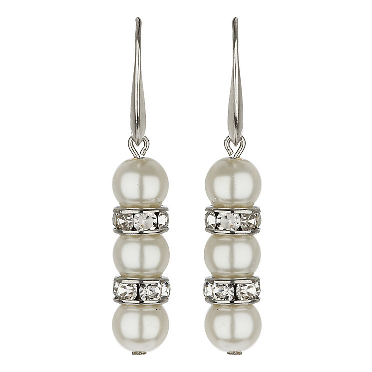 Mikey Imitation Pearl & Crystal Ring Earrings - Product number 1354876
