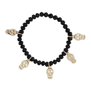 Mikey Yellow Skull Black Charm Bracelet - Product number 1354981