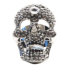 Mikey White Crystal Skull Ring - Product number 1355015