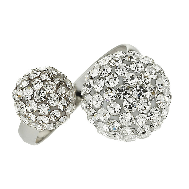 Mikey White Twin Ball Crystal Ring - Product number 1355074