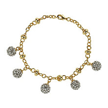 Mikey Yellow Crystal Ball Charm Bracelet - Product number 1355104