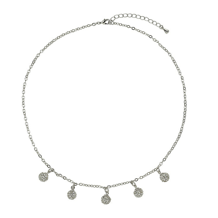 Mikey White Crystal Ball Charm Necklace - Product number 1355120