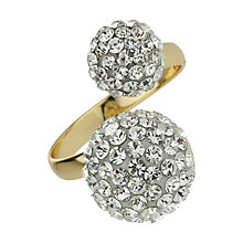 Mikey Yellow Twin Ball Crystal Ring - Product number 1355155
