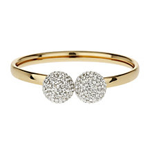 Mikey Yellow Twin Ball Crystal Bangle - Product number 1355163