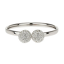 Mikey White Twin Ball Crystal Bangle - Product number 1355171