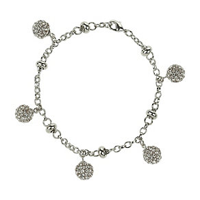 Mikey White Crystal Ball Charm Bracelet - Product number 1355198