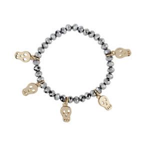 Mikey Hematite Yellow Skull Charm Bracelet - Product number 1355899
