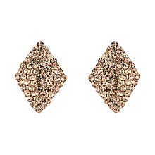 Mikey Champagne Crystal Diamond Shaped Stud Earrings - Product number 1355953