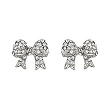 Mikey White Crystal Bow Stud Earrings - Product number 1356011