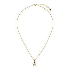 Mikey Yellow Small Diamante Dog Necklace - Product number 1356038
