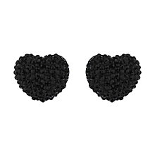 Mikey Black Crystal Heart Stud Earrings - Product number 1356054
