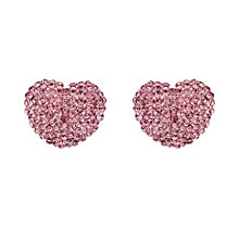 Mikey Pink Crystal Heart Stud Earrings - Product number 1356062