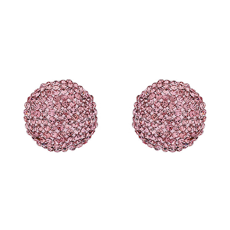 Mikey Pink Crystal Round Stud Earrings - Product number 1356089