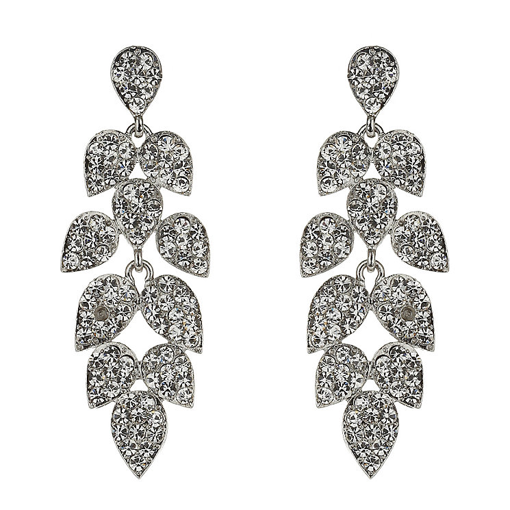 Mikey White Crystal Leaf Drop Earrings - Product number 1356119
