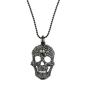 Mikey Black Crystal Skull Necklace - Product number 1356127