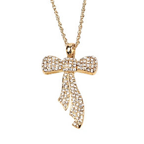 Mikey Yellow Crystal Bow Long Pendant - Product number 1356151