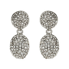 Mikey White Crystal Drop Earrings - Product number 1356194