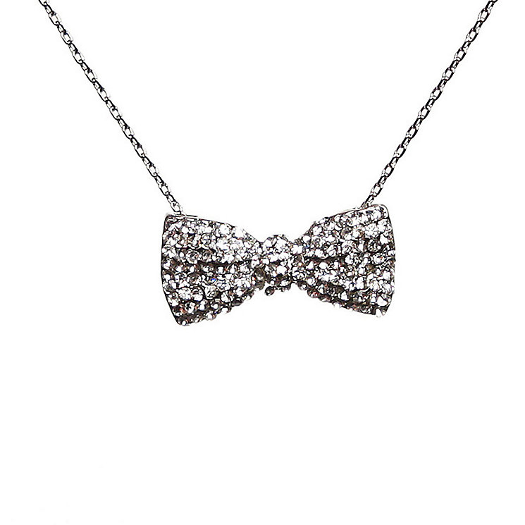 Mikey White Crystal Bow Necklace - Product number 1356232
