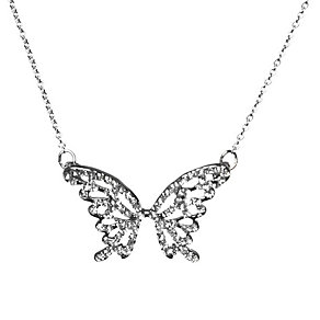 Mikey White Crystal Big Butterfly Necklace - Product number 1356240