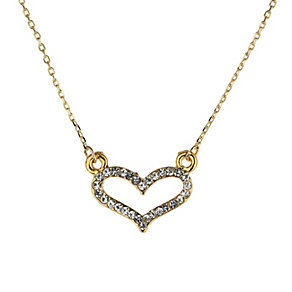 Mikey Yellow Diamante Heart Necklace - Product number 1356275