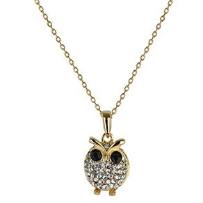 Mikey Yellow Diamante Owl Necklace - Product number 1356291
