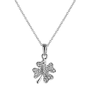 Mikey White Diamante Flower Necklace - Product number 1356321