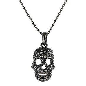 Mikey Black Diamante Skull Necklace - Product number 1356348