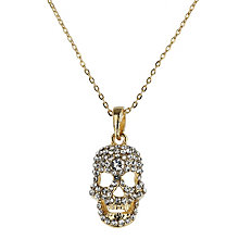 Mikey Yellow Diamante Skull Necklace - Product number 1356356